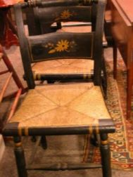 Set of Four Paint Decorated Hitchcock-type Side Chairs.