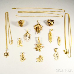 Group of Mostly 14kt Gold Jewelry