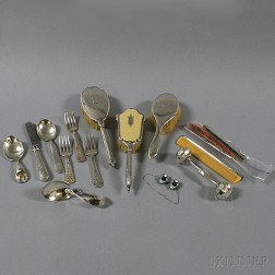 Group of Child's Silver Flatware and Accessories