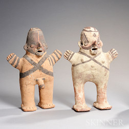 Chancay Painted Pottery Couple