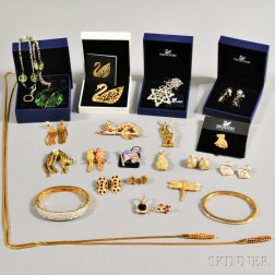 Group of Mostly Swarovski Costume Jewelry