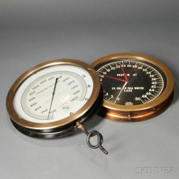 Two Large Dial Gauges