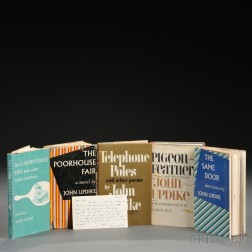 Updike, John (1932-2009) Five Titles, Some Signed Copies.