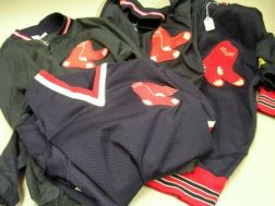 Four Assorted Boston Red Sox Team Jerseys and Jackets