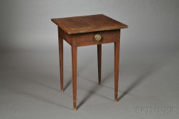 Federal String-inlaid Cherry One-drawer Stand