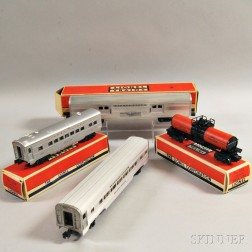 Four Lionel Trains
