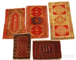 Collection of Five Small Rugs