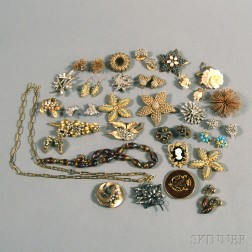 Small Group of Designer Costume Jewelry