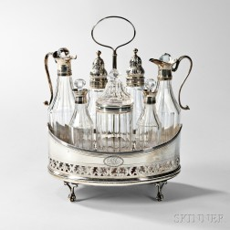 George IV Sterling Silver-mounted Cruet Set