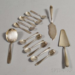 French Felix Freres Silver-plated Ice Cream Service