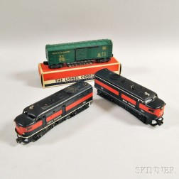 Three Lionel Rock Island Trains