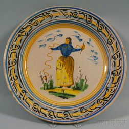 Large Faience Charger