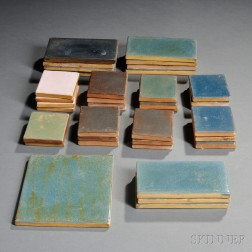 Thirty-seven Saturday Evening Girls Pottery Architectural Tiles