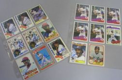 Seventeen Jim Rice Autographed Baseball Cards.