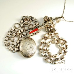 Two Sterling and One Silver-plated Necklaces