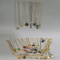 Assorted Group of Mostly Signed Costume Jewelry