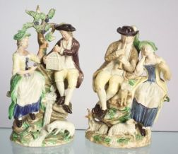 Two Ralph Wood Type Pearlware Figures