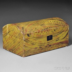 Paint-decorated Poplar Dome-top Trunk