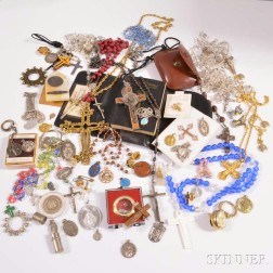 Group of Religious Jewelry and Accessories