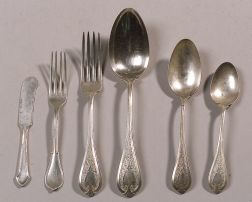 Sixty-three Pieces of American Silver Flatware