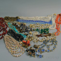 Group of Mostly Costume Necklaces