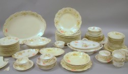 Seventy-eight Piece Assembled Floral Decorated Porcelain Partial Dinner Service