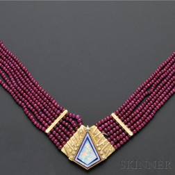 Diamond and Gem-set Necklace, Eric Russell, Nicolai Medvedev