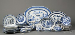 Assembled Group of Canton Porcelain Tableware