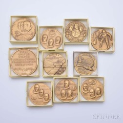 Ten Space-related Bronze Medals