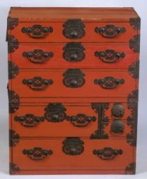 Red Lacquered Tansu