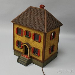 Painted and Electrified Dollhouse