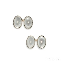 Edwardian Mother-of-pearl Cuff Links, Larter & Sons