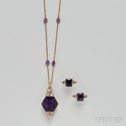 14kt Gold, Amethyst, and Cat
