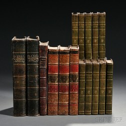 Decorative Bindings, Sets, English Literature, Sixteen Volumes.
