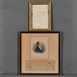 Burr, Aaron (1756-1836) and Daniel Webster (1782-1852) Two Documents Signed.
