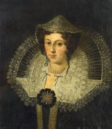 Flemish School, 17th Century Style    Portrait of an Elegant Lady in an Elaborate Lace Collar