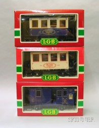 Three Boxed L.G.B. Narrow Gauge Anniversary Cars