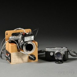 Olympus Pen F and Nikomat with Ring Flash
