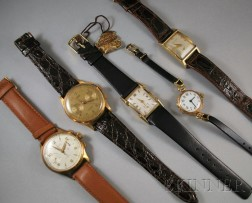 Five Gold Wristwatches
