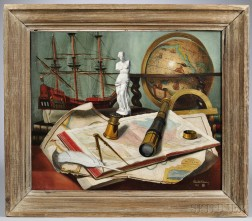 Charles Cerny (United States, France, and Czech Republic, 1892-1965)  Maritime Still Life.  Signed and dated Charles Cern...