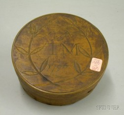 Round Wooden Lap-sided Box with Cover