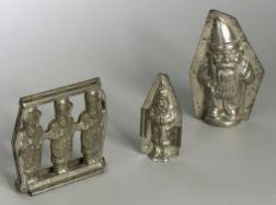Three Christmas Chocolate Molds