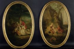 Manner of Francois Boucher (French, 1703-1770)  A Pair of Fete Galantes.