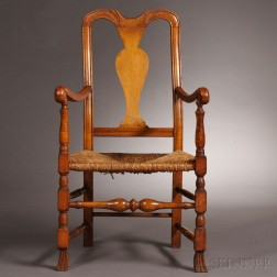 Country Queen Anne Maple Armchair