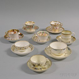 Eight Porcelain Teacups and Saucers