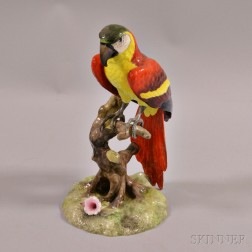 Royal Crown Derby Porcelain Macaw