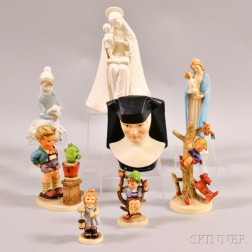 Eight Mostly Hummel Figures