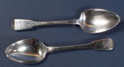 Set of Twelve George III Silver Large Tablespoons