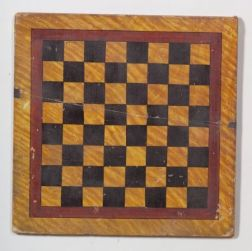 Faux Tiger Maple Painted Double-Sided Wooden Game Board