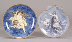 Two Wedgwood Queen's Ware Dishes